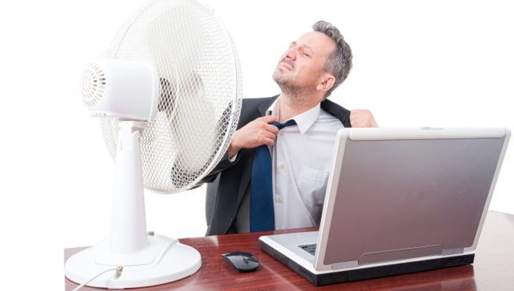 How to stay cool at the office!image